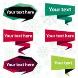 Color frame and label set. Vector illustration Stock Image