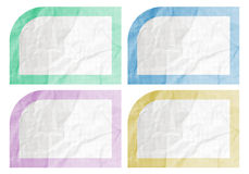 Color frame paper Royalty Free Stock Photos