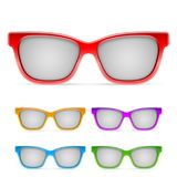 Color Framed Sunglasses Royalty Free Stock Photo