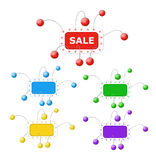 Color frames with balls on wires Stock Image