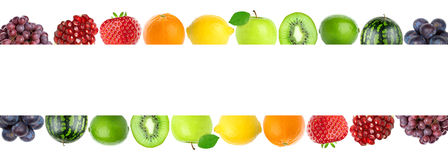 Color fresh fruits Stock Image