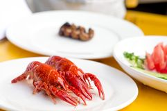 Color Fried small lobster Stock Images