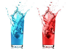 Color fruit drinks Royalty Free Stock Photography