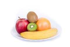 Color fruits Stock Images
