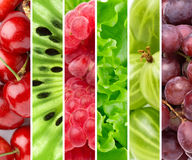 Color fruits and berries Royalty Free Stock Photos