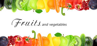 Color fruits and vegetables Royalty Free Stock Photos