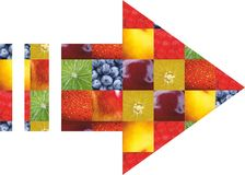 Color fruits and vegetables. Fresh food. Concept. Collage Royalty Free Stock Image