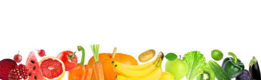 Color fruits and vegetables Stock Photo