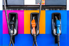 Color of fuel nozzle Royalty Free Stock Photos