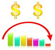 Color ful Business Graph on Scowl Stock Image