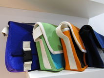 Color ful textile handbags Royalty Free Stock Image