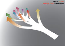Color full arrow chart Stock Photos