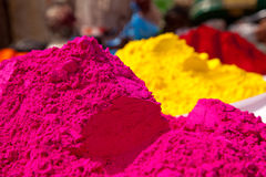 Color full colors of holi Royalty Free Stock Photo