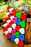 Color full flower pot for garden Royalty Free Stock Image