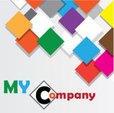 Color full my company background Royalty Free Stock Photo