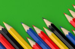 Color Full Pencil on Cloth. 3d render of colored pencils Royalty Free Stock Photography