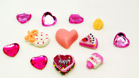 Color full sweet background with heart Stock Image