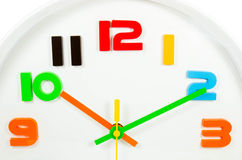 Color full wall clock  isolated Stock Photo