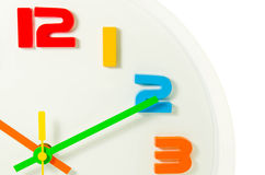 Color full wall clock  isolated Royalty Free Stock Photo
