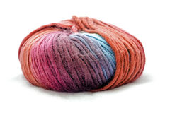 Color Full Yarn Ball. On White Background Stock Photography