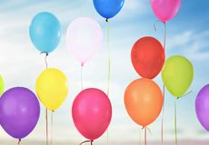 Bunch of colorful balloons isolated on background Stock Photography