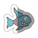 Color fun fish carucature icon. Illustration design Royalty Free Stock Photography