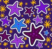 Color fun starfish pattern Stock Photo