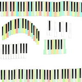 Color Funny Piano keys Royalty Free Stock Photography
