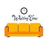 Color furniture living room flat icon Royalty Free Stock Photography