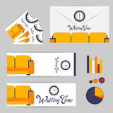 Color furniture living room flat icon Royalty Free Stock Photos
