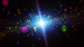 Color galaxy abstract background. Space concept 3D illustration stock photo