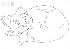 Coloring Book. Cat  for kids coloring activity Royalty Free Stock Image