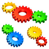 Color gears. Royalty Free Stock Photography
