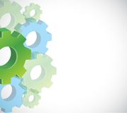 Color gears background illustration design Royalty Free Stock Photography