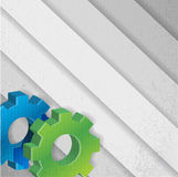 Color gears background illustration Stock Photography