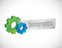 Color gears and demographics Stock Photography