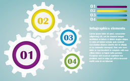 Color Gears Infographics Royalty Free Stock Images