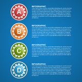 Color gears infographics design template. Royalty Free Stock Photography