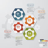 Color Gears Infographics Number background Royalty Free Stock Photography