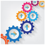 Color Gears Infographics Stock Photography