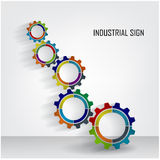 Color Gears Infographics Number Options Banner Stock Photography