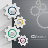 Color Gears Infographics Number Options Banner & Card. Vector il Royalty Free Stock Image