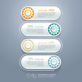 Color Gears Infographics Number Options Banner. Royalty Free Stock Photos