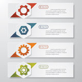 Color Gears Infographics Number template Royalty Free Stock Image