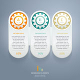 Color Gears Infographics Options Banner. Stock Photos