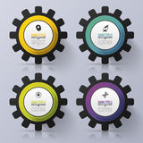 Color Gears Infographics. Options Banner. Vector illustration Royalty Free Stock Images