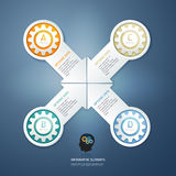 Color Gears Infographics Options Banner. Stock Photo