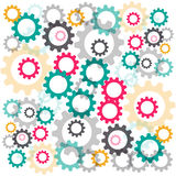 Color gears isolated on white background. Vector illustration Stock Image