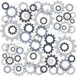 Color gears isolated on white background. Vector illustration Royalty Free Stock Photo