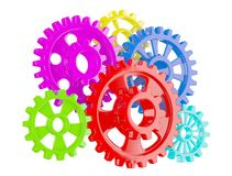 Color gears on white Royalty Free Stock Images